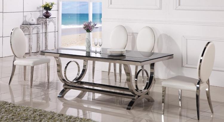 Spisebord af glas